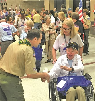 """""""It just amazes me that after so many years, so many people turned out,"""" said Earl K. Sherrow of the Honor Flight he took to Washington, D.C., this weekend. """"It made me feel like somebody."""""""