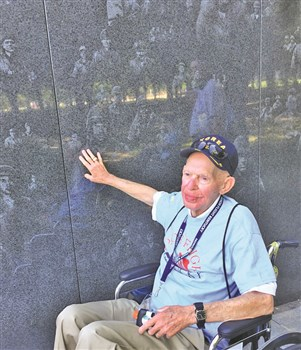 Earl Sherrow said one of the most moving parts of his Honor Flight was his visit to the Korean War Memorial in Washington, D.C.