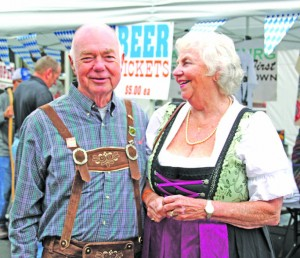 Allan and Beth Glaesser were Mr. and Mrs. Oktoberfest at Harrodsburg's first annual festival.