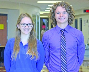 Mary Joyce, left, and Nick McClain are the two students from this year's graduating class at Mercer County Senior High School to be given honors by the National Merit Scholarship Corporation.