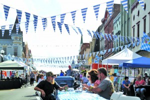It may look like downtown in Munich, but it's actually Main Street in Harrodsburg on Sunday, Oct. 16, at Oktoberfest.