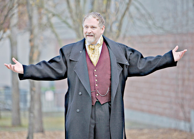 Allan Barlow is reprising the role of Ebenezer Scrooge for his sixth performance of A Christmas Carol at Ragged Edge Community Theatre.