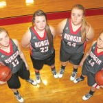The Burgin Lady Bulldogs are eyeing a better season in Chad Terrell's third season as head coach. Pictured, left to right: Alex Naylor, Miranda Hungate, Summer Mullins and Autumn Ransdell.