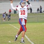 Mercer County junior quarterback Gunnar Gillis had three touchdown passes against Wayne County in their first meeting on Sept. 16.