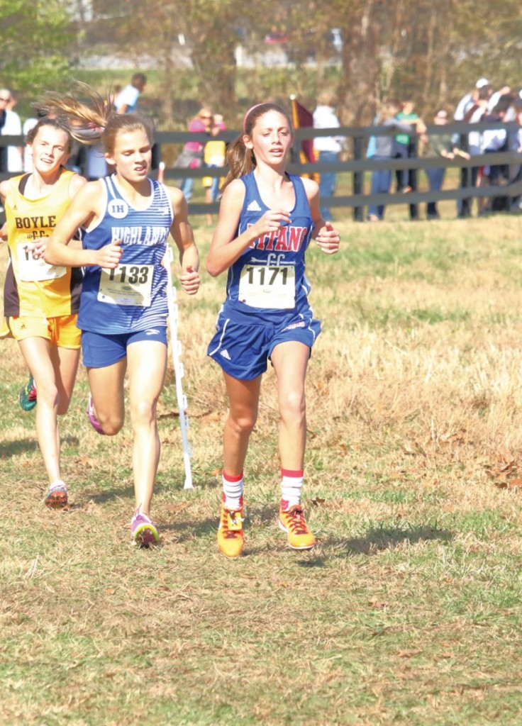 Mercer County freshman Haley Blevins finished fourth in the KHSAA Class AA State Cross-Country Meet Saturday afternoon with a time of 19:22.40.