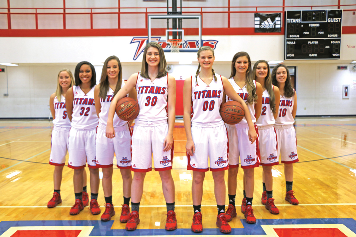 The Mercer County Lady Titans are looking to make another deep run at the KHSAA State Tournament this season. Pictured, left to right, are junior and seniors on the team: Alie Burke, Lyric Houston, Seygan Robins, Emmy Souder, Emma Davis, Faith Lake, Lexy Lake and Jennifer Merchant.