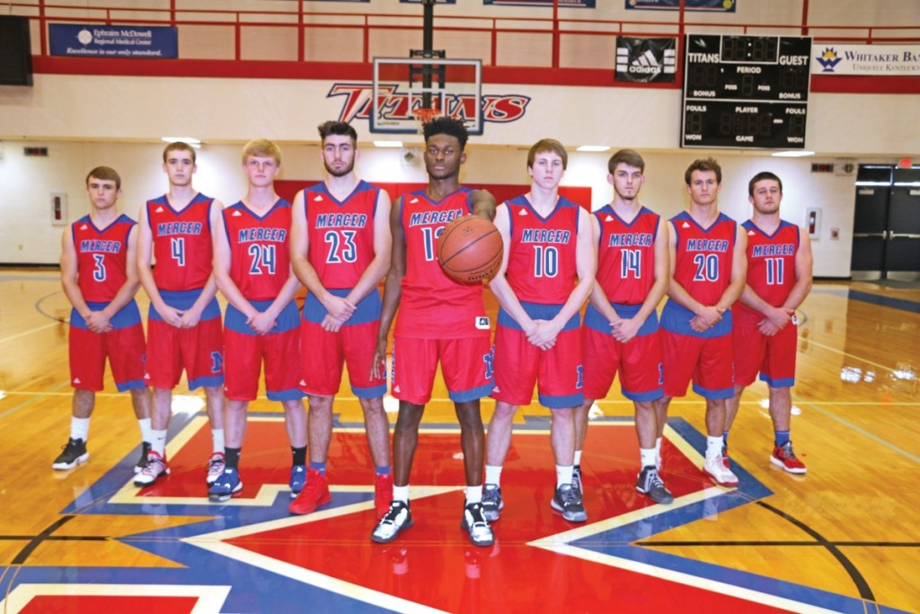 The Mercer County basketball team will rely heavily on their junior and senior classes if they want to repeat as 12th Region Champions. Pictured, left to right: Seth Taum, Jon Dunning, Garrett Dean, Gunnar Gillis, Trevon Faulkner, Andrew Bray, Rhyan Lanham, Tanner Robins and Grayson Blevins.