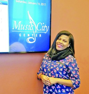 Zharia Yeast anxiously awaited her audition for NBC's The Voice at the Music City Center in Nashville, Tenn.