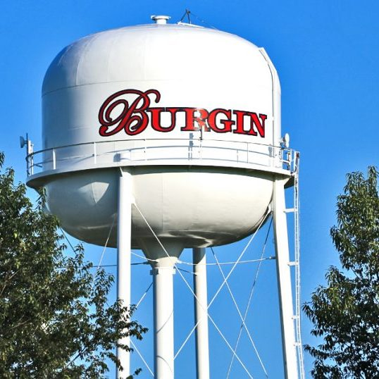 Burgin Water Tower Close Up