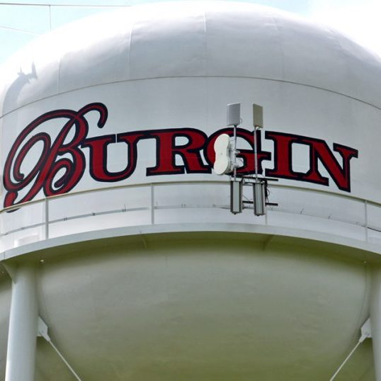 The City of Burgin has agreed to allow Blue Zoom  Wifi to install a tower on the city's water tower.