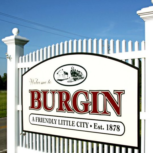 Burgin Welcome Sign