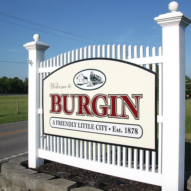 Burgin Welcome Sign Raw