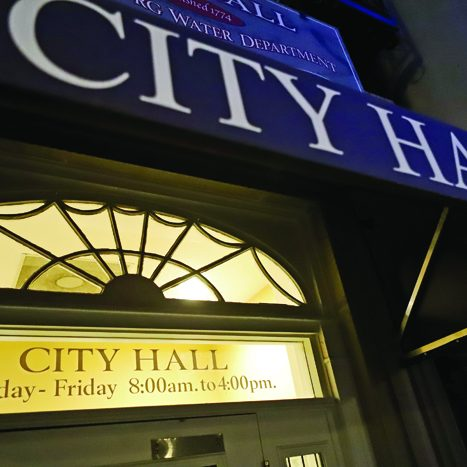 City Hall Front Door Tilt Left1