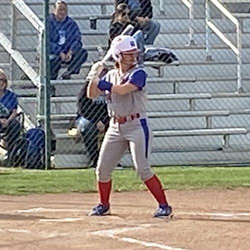 The Harrodsburg Herald/Myron Ellis Senior Grace Pittman stepped up to bat during the Lady Titans 5-4 loss to Estill County this past Saturday, May 8.