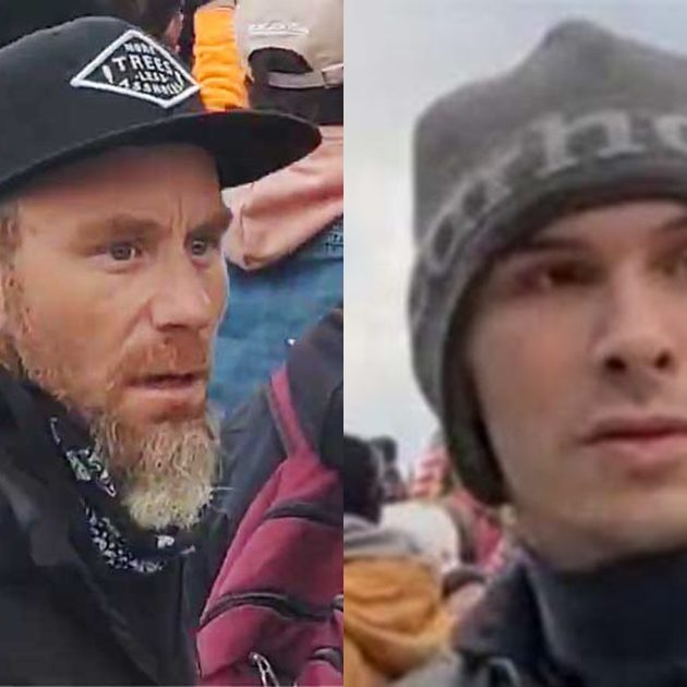Paul Russell Johnson, left, and Stephen Chase Randolph, right, have been indicted for taking part in the assault on the U.S. Capitol on Jan. 6.