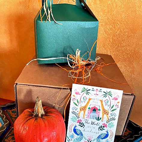 Photo Submitted In place of a 20 year old tradition of friends gathering for Thanksgiving, Lois Mateus is delivering Thanksgiving-themed lunch boxes this year.