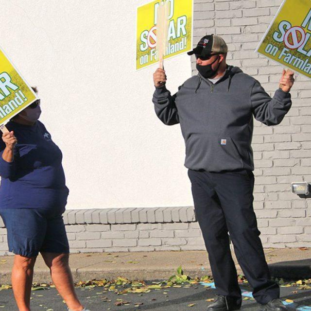 Solar protestors